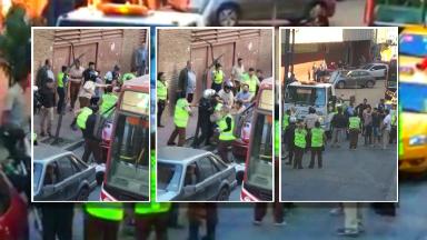 AUDIO: Agentes de tránsito, a las trompadas en pleno Centro