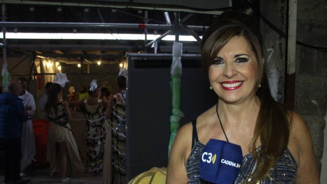 FOTO: Laura Carbonari en la Fiesta de la Vendimia
