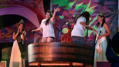 AUDIO: La ceremonia de pisar la uva, una tradición de la Vendimia