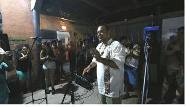 AUDIO: El Indio Rojas, en la peña El Corralito