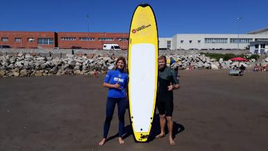 AUDIO: Clase de surf con el bicampeón mundial Lele Usuna