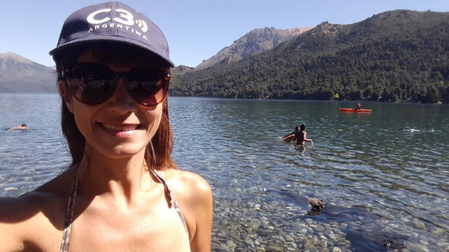 FOTO: Con más de 33 grados, estalló el verano en Bariloche
