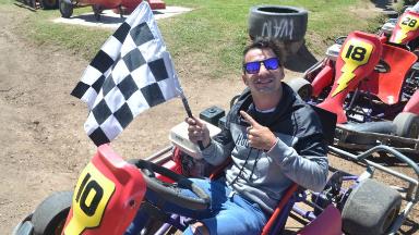 AUDIO: Nazareno fue el ganador del desafío de karting