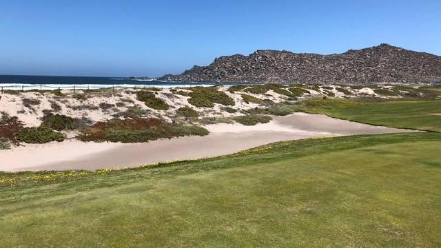 FOTO: Agus Vivanco practicó sus tiros en el Golf Club de La Serena