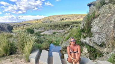 AUDIO: Celeste Benecchi se aventuró en la Quebrada del Condorito
