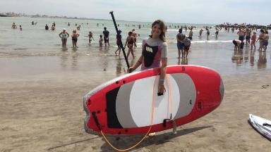 AUDIO: Stand up paddle, el deporte que es furor en Mar del Plata