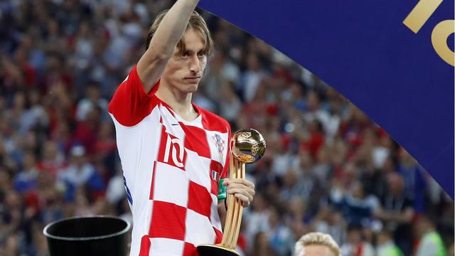 FOTO: Luka Modric, elegido el mejor jugador de la Copa del Mundo