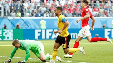 AUDIO: 2º gol de Bélgica (Hazard)