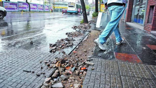 FOTO: Vecinos de La Plata que reparen su vereda tendrán beneficios