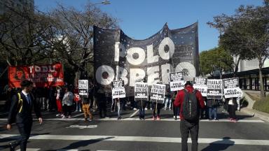 AUDIO: Polo Obrero y grupos piqueteros marchan a la Plaza de Mayo