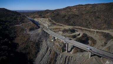 AUDIO: La imponente vía en altura de la Bajada de Altas Cumbres