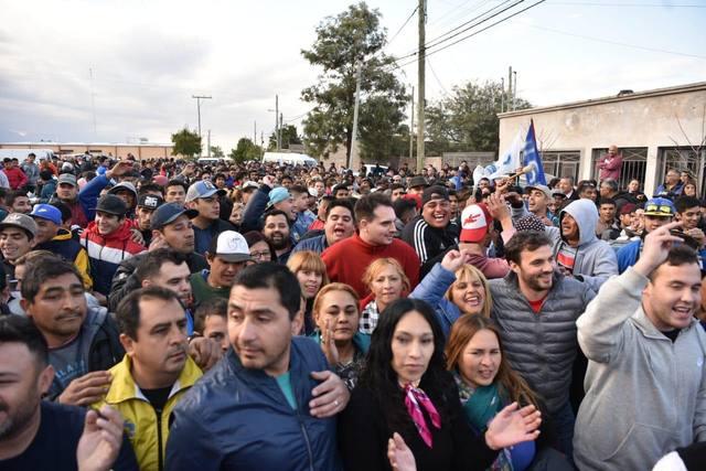 FOTO: Incidentes en un acto de candidatos a diputados de La Rioja
