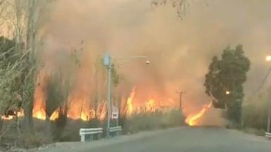 AUDIO: El viento Zonda también provocó un incendio en San Juan