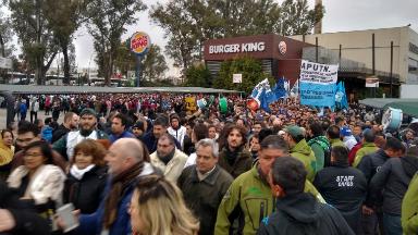 AUDIO: Sindicatos de Córdoba apoyaron a Fernández en el Orfeo