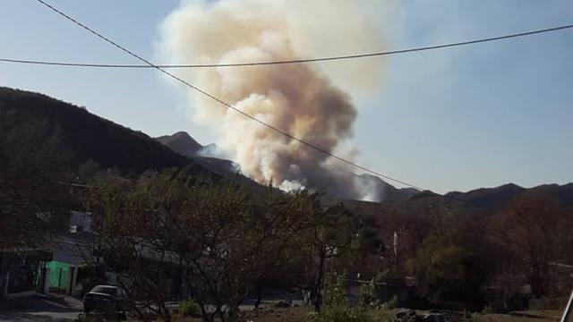 FOTO: El riesgo de fuego es muy alto estos días en la provincia.