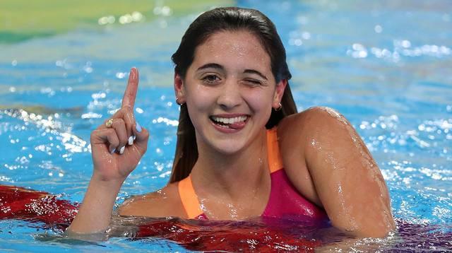 FOTO: Delfina Pignatiello imparable: se llevó el oro en 800 metros