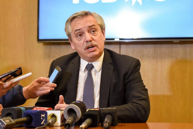 FOTO: Alberto advirtió que las medidas de Macri son