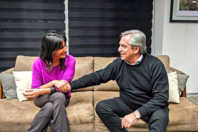 FOTO: Natalia de la Sota y Alberto Fernández