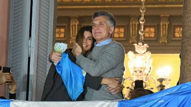 AUDIO: Macri saludó desde el balcón de la Casa Rosada