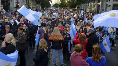 AUDIO: Masiva marcha en apoyo al presidente Mauricio Macri