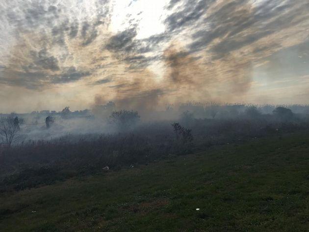 FOTO: Incendio en autopista Santa Fe - Rosario