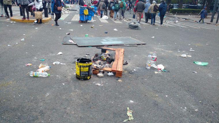 FOTO: estado de las calles en Buenos Aires