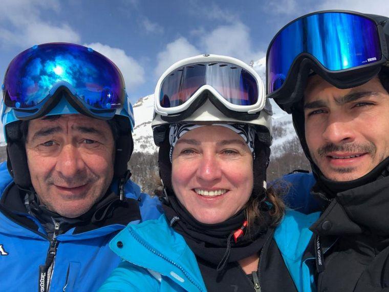 AUDIO: La familia Darín y Úrsula Corberó esquiaron en Bariloche (Por Marcela Psonkevich)