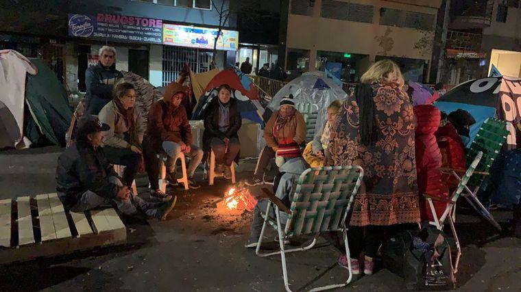 FOTO: Acampe de organizaciones sociales en Córdoba