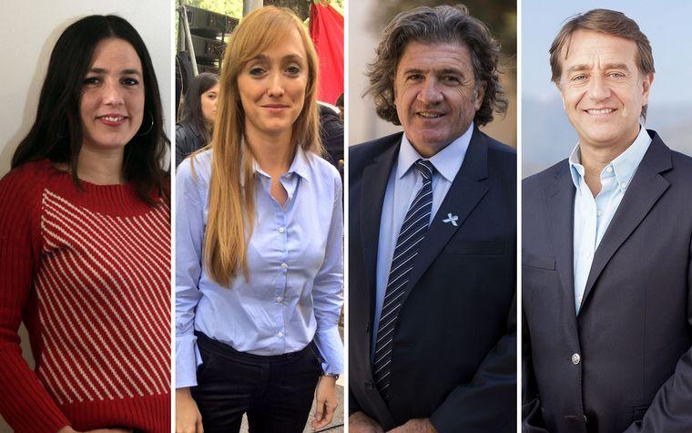 FOTO: Los candidatos Fernández Sagasti, Suárez, Ramón y Barbeito.