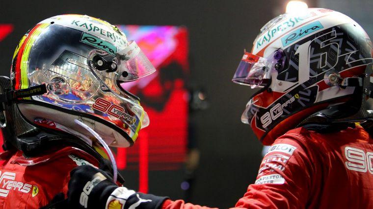 """FOTO: El director de Mercedes, Wolff, no se privó de avivar """"el fuego"""" en Ferrari"""