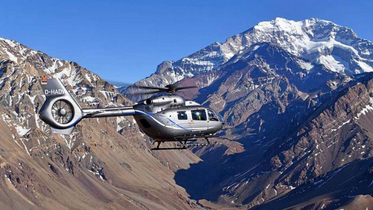 Así fue el aterrizaje del helicóptero en el Aconcagua — Fotos y video