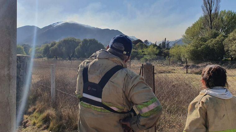 FOTO: Incendio en Valle de Punilla