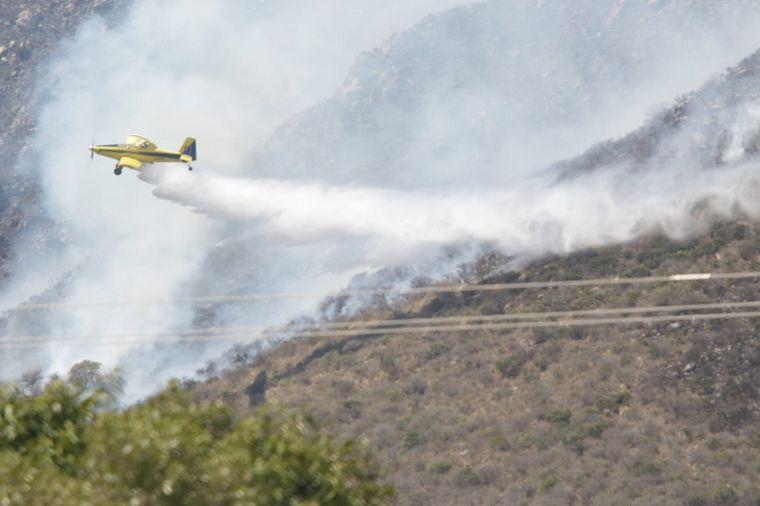 FOTO: Sigue la lucha contra los incendios en Punilla.