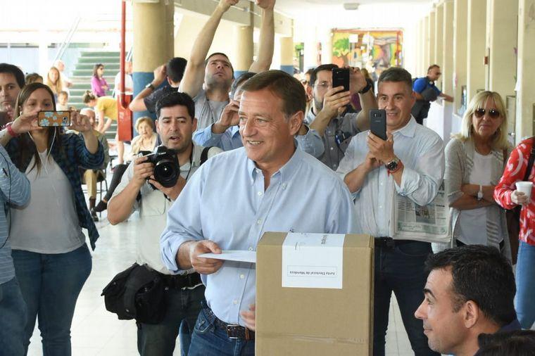 FOTO: Suárez y Fernández Sagasti, los candidatos más fuertes en Mendoza.