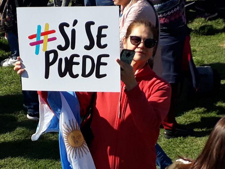 AUDIO: Macri realizó la marcha del ''Sí se puede'' en Mendoza (Por Luis Omar Castro).