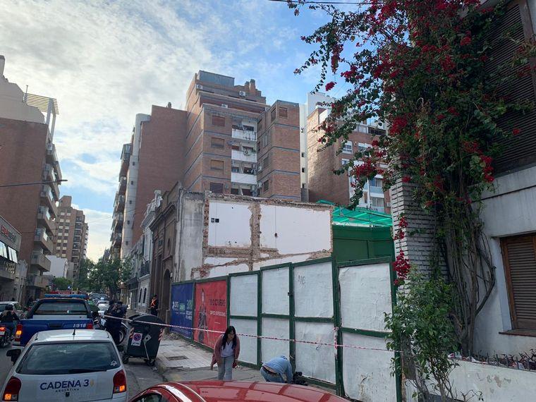 AUDIO: Derrumbe en una obra en construcción de barrio Nueva Córdoba (Por Fernando Genesir).