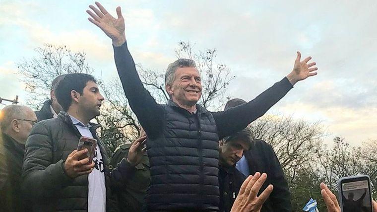 AUDIO: Macri llevó la marcha del