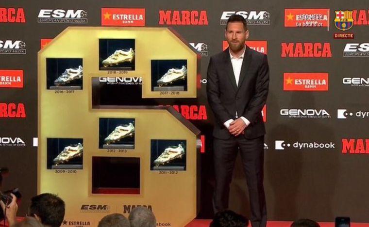 AUDIO: Lionel Messi recibió su sexta Bota de Oro