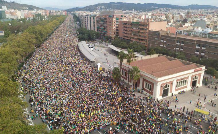 AUDIO: Incidentes entre manifestantes independentistas y la Policía (Por Adrián Cragnolini).