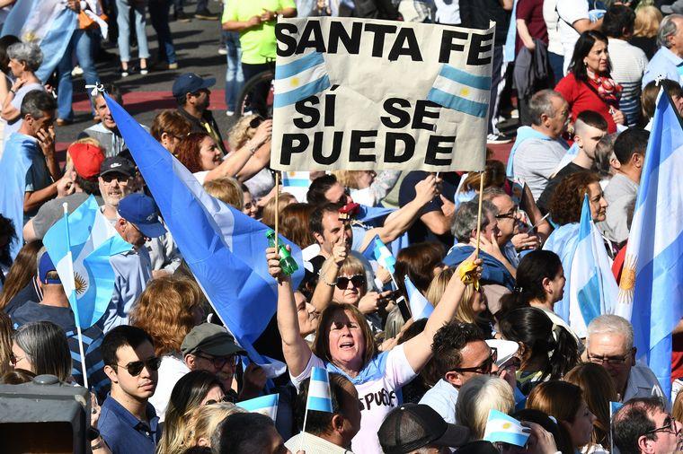 """FOTO: Las postales de la """"Marcha del millón"""" de Mauricio Macri."""