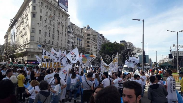 FOTO: La marcha del millón en Córdoba.