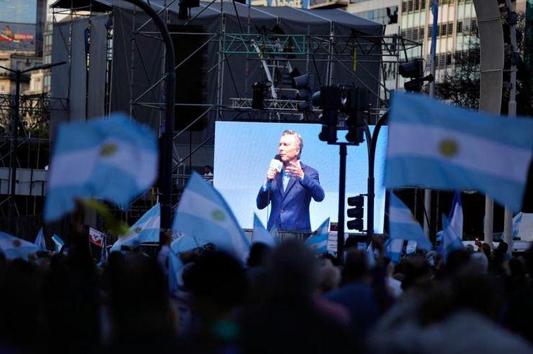 """FOTO: Bullrich en la """"Marcha del Millón""""."""