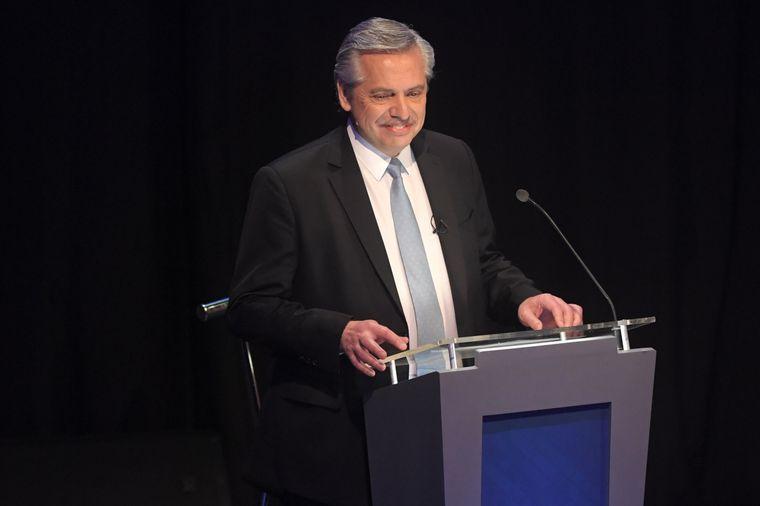 FOTO: El candidato del Frente de Todos, en el debate en la UBA.
