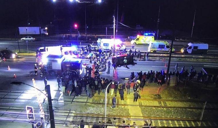 Atropelló a manifestantes y mató a dos personas
