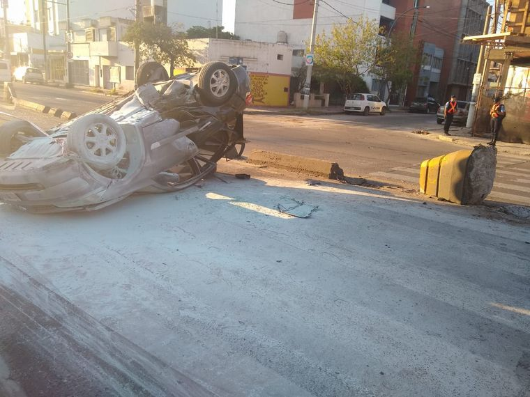 Accidente en Colón y Cayetano Silva.