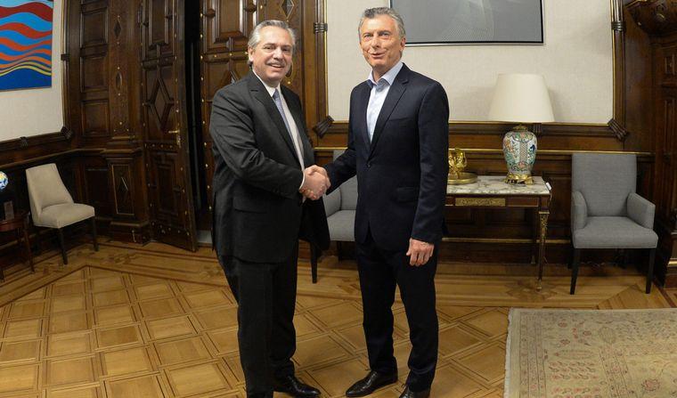 Mauricio Macri juntos en Casa Rosada