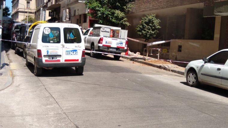 FOTO: Autoevacuados en Güemes por una pérdida de gas.