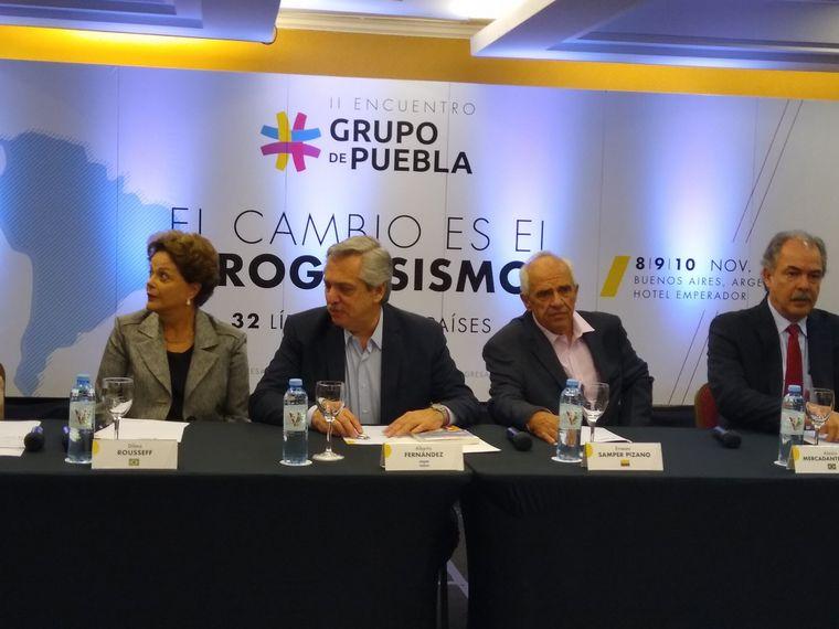 FOTO: Alberto Fernández inauguró el II Encuentro del Grupo de Puebla.