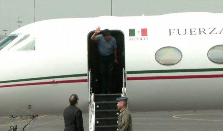 FOTO: Evo Morales en Mexico.