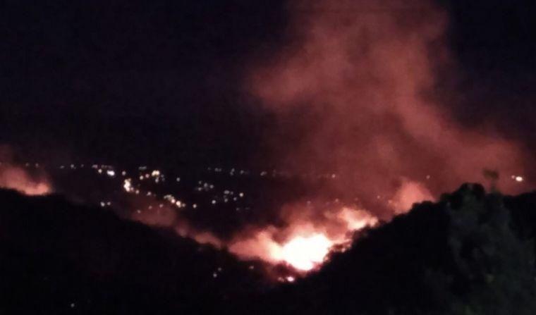 FOTO: Foco de incendio en Carlos Paz
